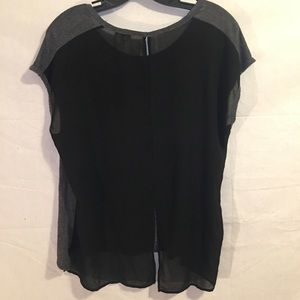 one clothing Tops - One Clothing Gray & Black Sleeveless T-Shirt XL
